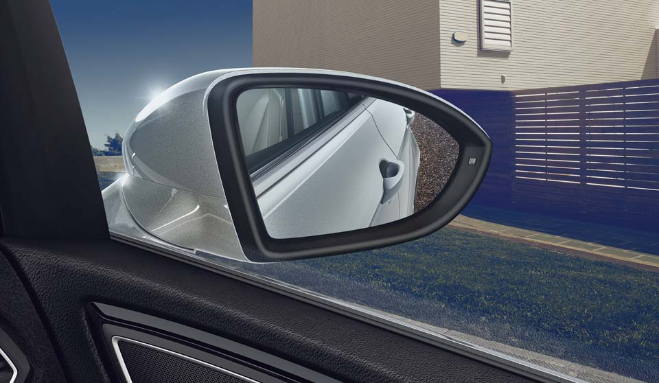 Silver Volkswagen Golf SV interior view wing mirror large thumbnail